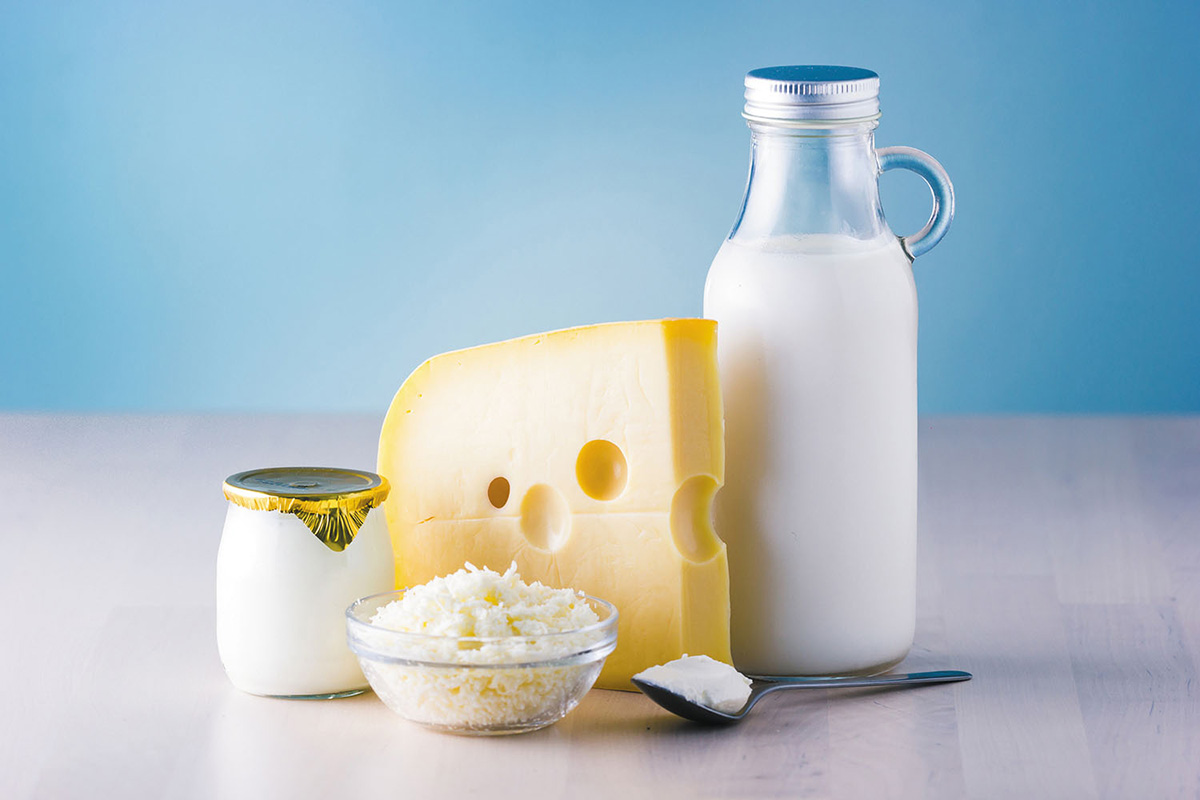 Calcium from dairy makes some people bloated.